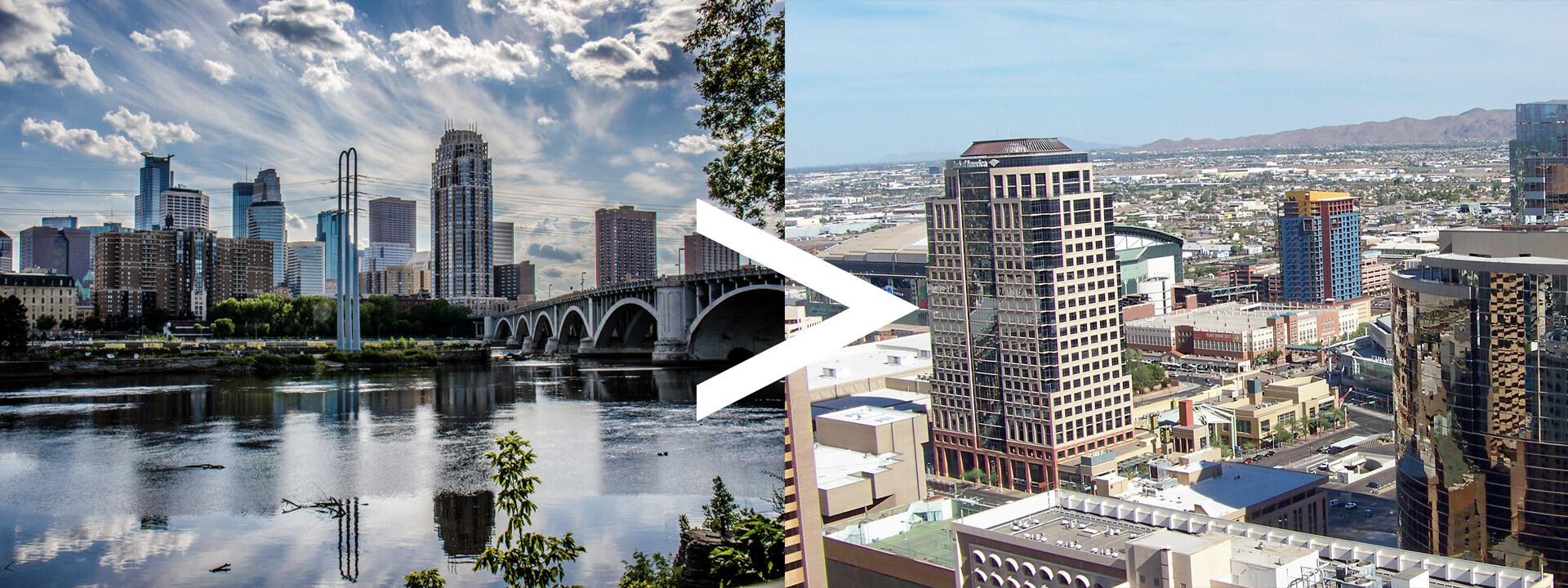 Auto Transport Route Minneapolis to Phoenix