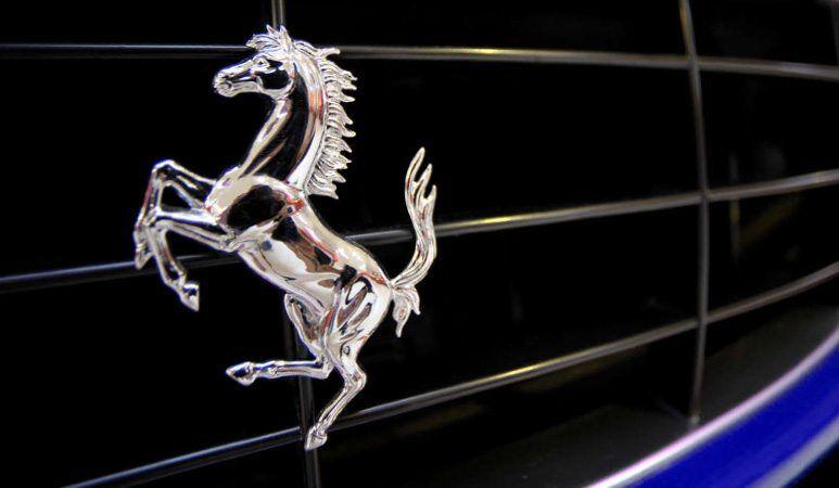 ferrarri horse on grill - ship your ferrari