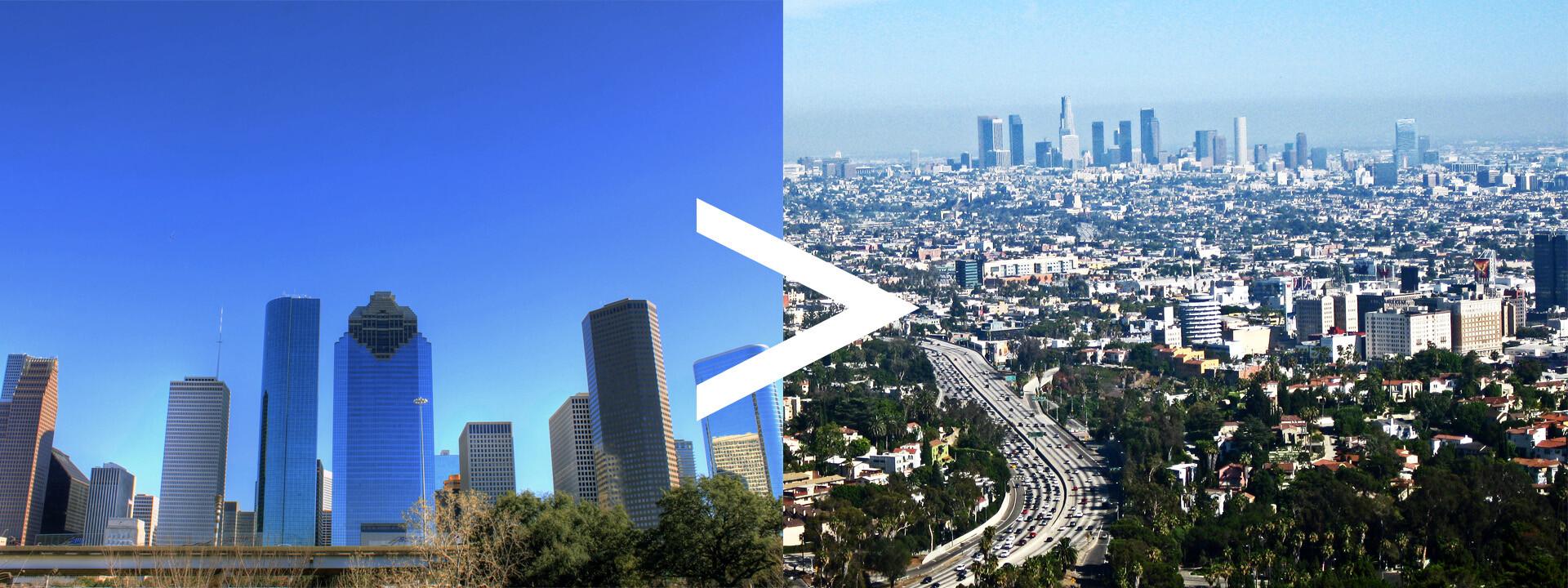 Auto Transport Route Houston to Los Angeles