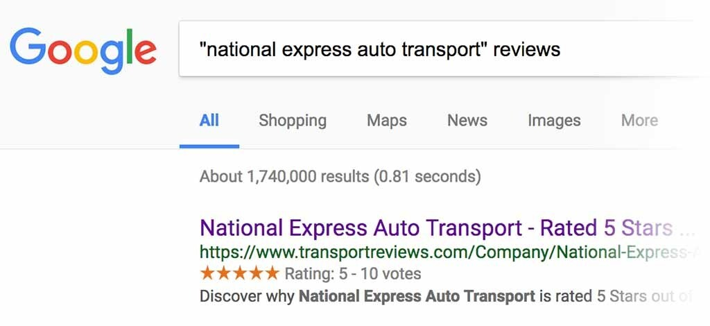 national express auto transport reviews example