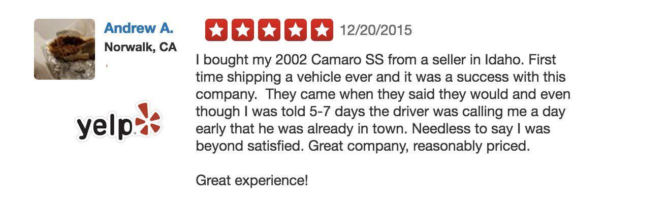 another nice yelp review