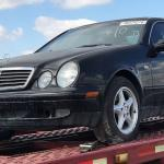 auto transport carrier holding car from auction