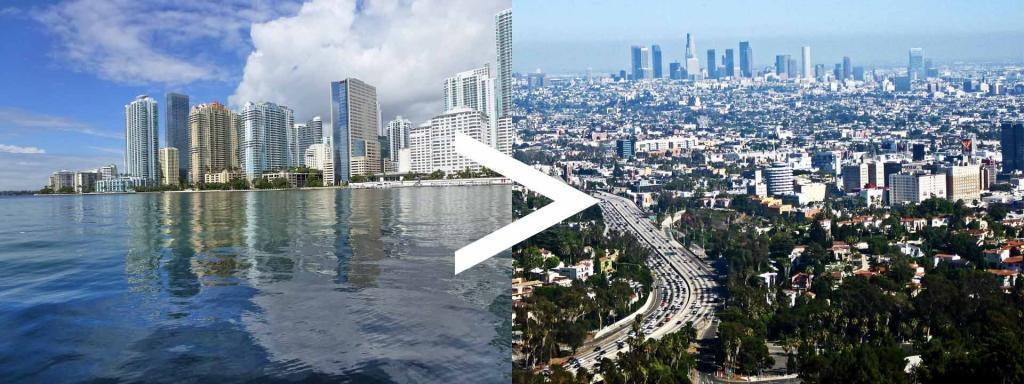 florida to california route auto transport