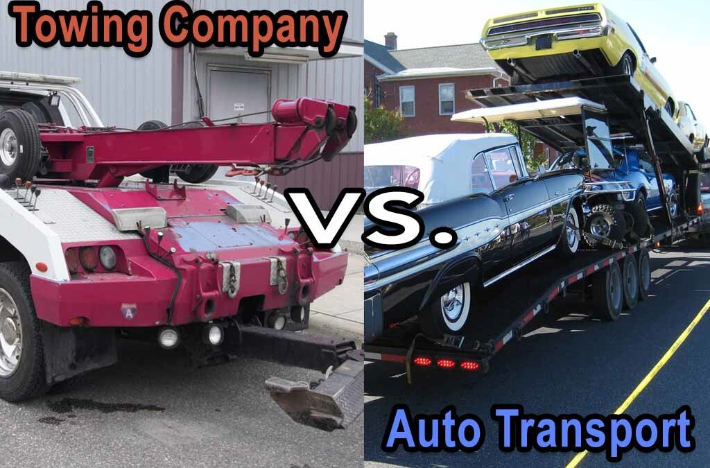 Difference Between a Towing Company and an Auto Transport Company