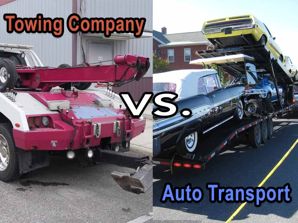 Difference Between A Towing Company And An Auto Transport