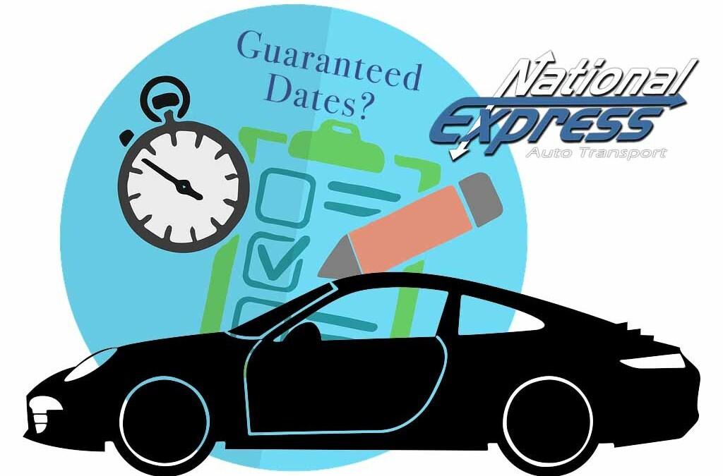 guaranteed auto transport dates - clipboard with checklist, car silhouette