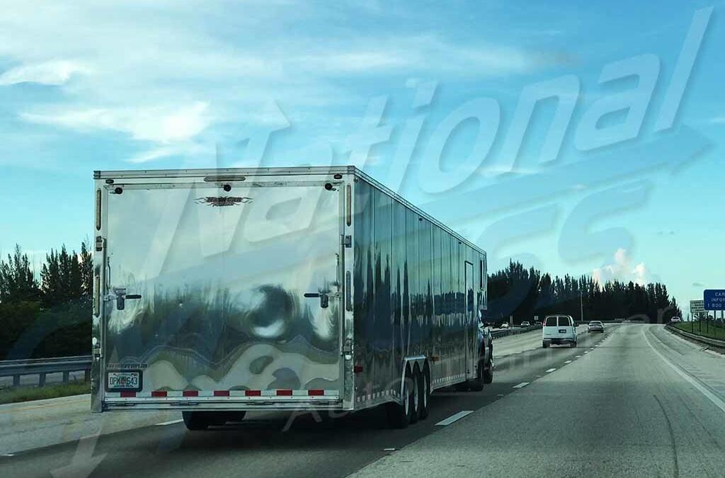 picture of enclosed 2 car trailer