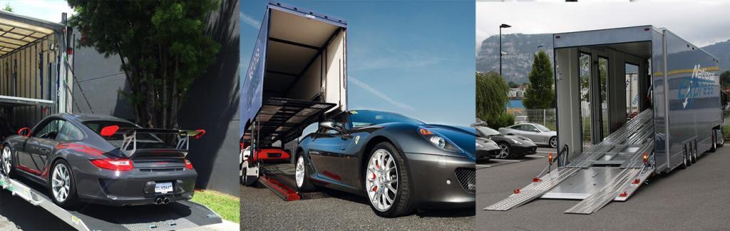 enclosed auto transport collage