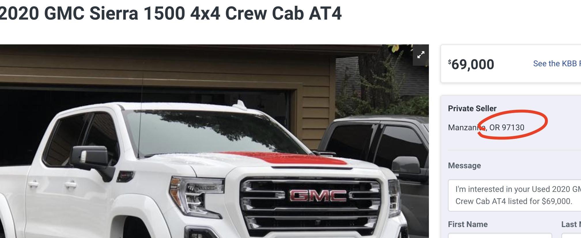 find zip code auto trader